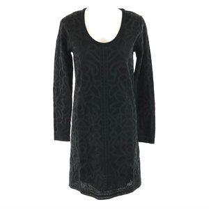 M Missoni Shift Sweater Dress Textured Lace Overla